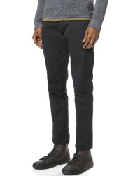 Wings + Horns - Black Shrunken Twill Tokyo Pants for Men - Lyst