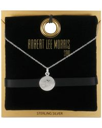 Robert Lee Morris | Metallic Robert Lee Morris Silver-Tone Initial Pendant Necklace | Lyst