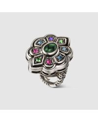 Gucci | Multicolor Ring With Swarovski Crystals | Lyst