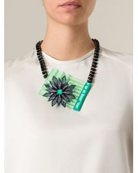 Silvia Rossi   Green 'polynesian Wave' Necklace   Lyst