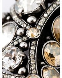 Lanvin - Metallic Moon Brooch - Lyst