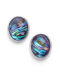 Judith Jack - Blue 'metal Moment' Stone Stud Earrings - Lyst