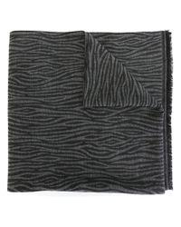 Nina Ricci - Gray Zebra Pattern Scarf - Lyst