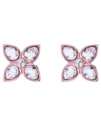 Ted Baker - Multicolor Gem Flower Stud Swarovski Crystal Earrings - Lyst