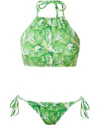 Brigitte Bardot - White Abstract Print Bikini Set - Lyst