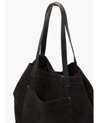 Mango | Black Suede Shopper Bag | Lyst