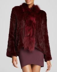 Elizabeth and James | Red Rabbit Fur Coat | Lyst