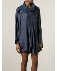 Antonio Marras - Blue Oversized Asymmetrical Dress - Lyst