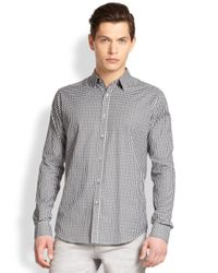Theory - Blue Zack Afton Check Sportshirt for Men - Lyst