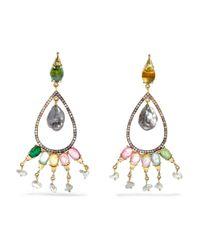 Daniela Villegas | Metallic Preciosa 18-karat Gold Multi-stone Earrings | Lyst