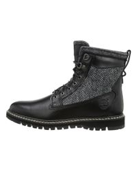 "Timberland | Black Britton Hill 6"" Warm Lined Leather And Fabric Boot for Men 