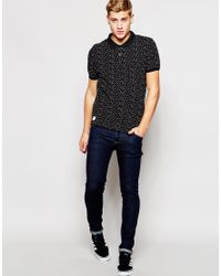 Native Youth - Black Star Pique Polo Shirt for Men - Lyst