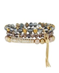 R.j. Graziano | Multicolor Beaded Stack Bracelet Set | Lyst