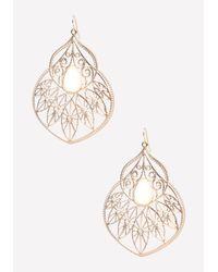 Bebe - White Fancy Starburst Earrings - Lyst