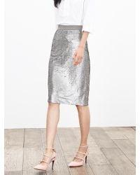 Banana Republic   Metallic Sequin Pencil Skirt   Lyst