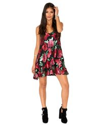 Missguided - Multicolor Gabey Rose Sequin Embellished Swing Dress - Lyst