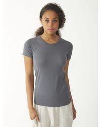 Alternative Apparel | Gray Basic Womens Crew T-shirt | Lyst