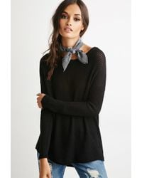 Forever 21 - Black Cutout-back Textured Sweater - Lyst