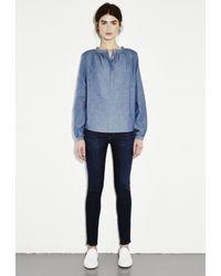 M.i.h Jeans - Blue Gathered Shirt - Lyst