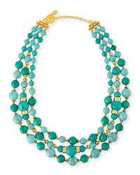 Jose & Maria Barrera | Blue Triple-strand Turquoise Necklace | Lyst