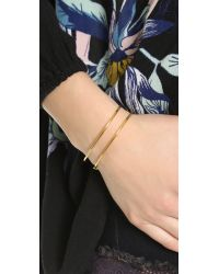 Marc By Marc Jacobs - Metallic Wireframe Toggle Bracelet - Oro - Lyst