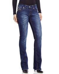 7 For All Mankind - Blue Slim Fit Boot Cut Jeans - Lyst
