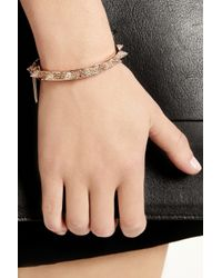 Eddie Borgo | Pink Rose Gold-Plated Crystal Cone Bracelet | Lyst
