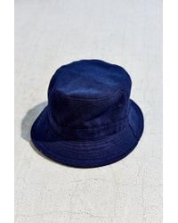 Urban Outfitters | Blue Late Pass Flannel Bucket Hat | Lyst