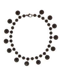 Givenchy - Black Crystals-embellished Necklace - Lyst