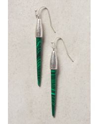 Anthropologie | Green Jade Swirl Earrings | Lyst