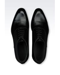 Emporio Armani - Black Patent Leather Brogue for Men - Lyst
