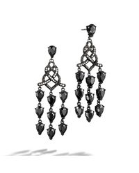 John Hardy | Chandelier With Black Ruthenium Earrings | Lyst