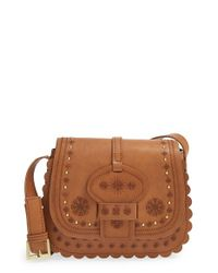 Big Buddha | Brown Embroidered Western Crossbody Bag | Lyst
