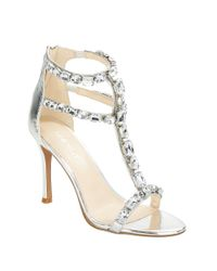 Nine West | Metallic Fresh Embellished Stiletto Sandals | Lyst