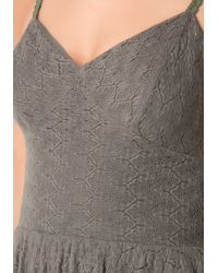 Bebe | Green Flame Stitch Knit Dress | Lyst