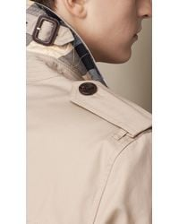 Burberry | Natural Mid-Length Cotton Trench Coat for Men | Lyst