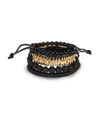 River Island | Black Woven Bracelets Pack for Men | Lyst