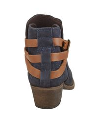 H by Hudson | Blue Horrigan Strapped Ankle Boots | Lyst