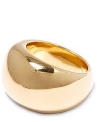 Jennifer Fisher | Metallic Gold-plated Cylinder Ring | Lyst