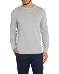 Ben Sherman | Gray House Plain Crew Neck Sweatshirt for Men | Lyst