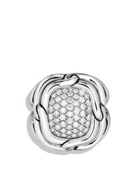 David Yurman | Metallic Labyrinth Large Ring With Diamonds | Lyst