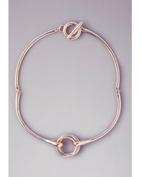 Bebe | Metallic Mixed Metal Knot Necklace | Lyst