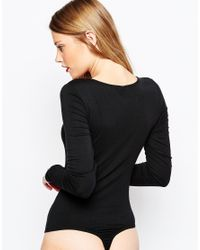 Y.A.S - Black Base Long Sleeve Body - Lyst