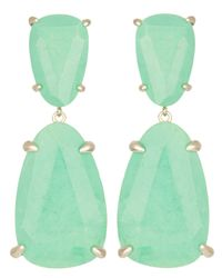 Kendra Scott | Green Katie Earrings, Seafoam Magnesite | Lyst