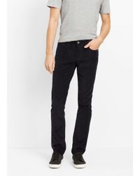 VINCE | Blue Soho Slim Fit Cordoroy Trouser for Men | Lyst