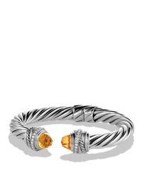 David Yurman - Orange Crossover Bracelet With Citrine & Diamonds - Lyst