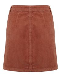 361986154 Miss Selfridge Corduroy A-line Mini Skirt in Brown - Lyst