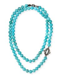 Armenta | Blue Old World Magnesite Scroll Necklace for Men | Lyst