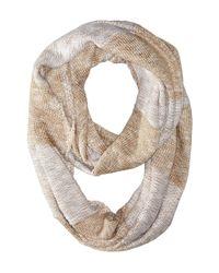 Calvin Klein - Brown Plaited Stripe Infinity Scarf - Lyst