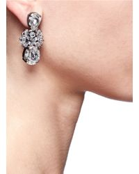 Erickson Beamon | Metallic 'midnight Lace' Crystal Drop Earrings | Lyst